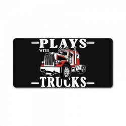 plays with trucks family matching License Plate   Artistshot
