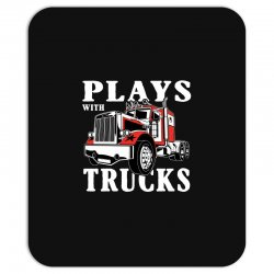 plays with trucks family matching Mousepad   Artistshot