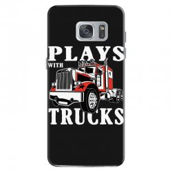 plays with trucks family matching Samsung Galaxy S7 Case   Artistshot