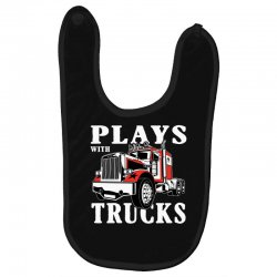 plays with trucks family matching Baby Bibs   Artistshot