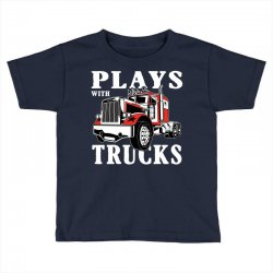 plays with trucks family matching Toddler T-shirt   Artistshot