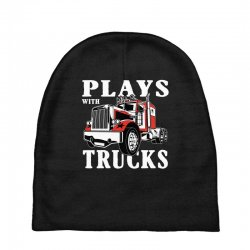 plays with trucks family matching Baby Beanies   Artistshot