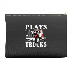 plays with trucks family matching Accessory Pouches   Artistshot
