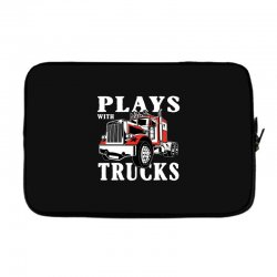 plays with trucks family matching Laptop sleeve   Artistshot