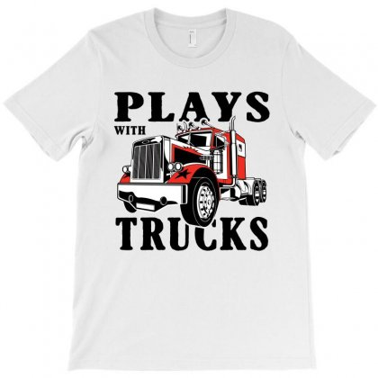 Plays With Trucks Family Matching T-shirt Designed By Akin