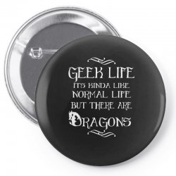 geek life Pin-back button | Artistshot