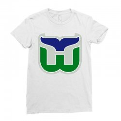 hartford whalers logo Ladies Fitted T-Shirt | Artistshot