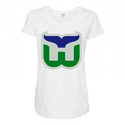 hartford whalers logo Maternity Scoop Neck T-shirt | Artistshot