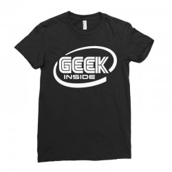 geek inside Ladies Fitted T-Shirt | Artistshot