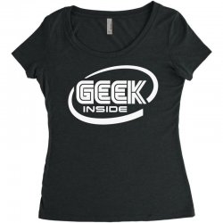 geek inside Women's Triblend Scoop T-shirt | Artistshot