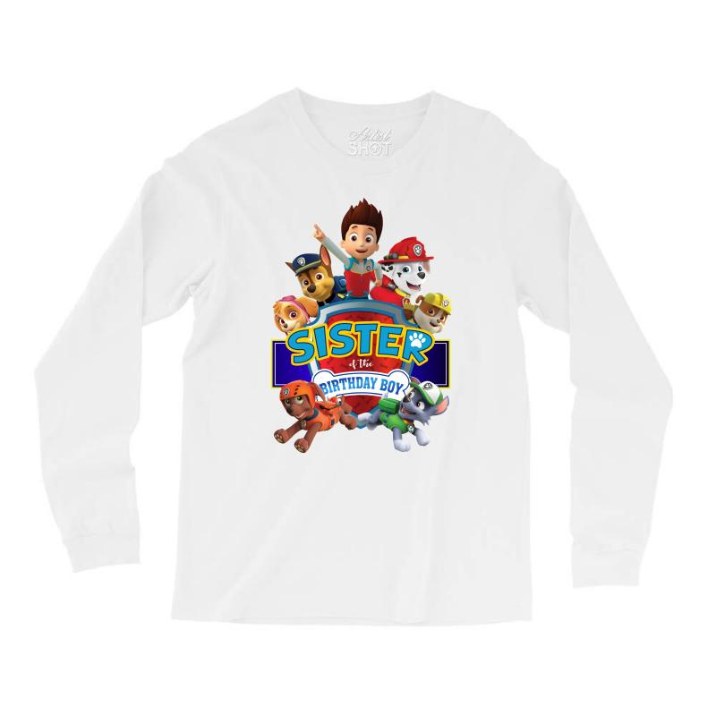 Paw Patrol Birthday Boy Sister Long Sleeve Shirts