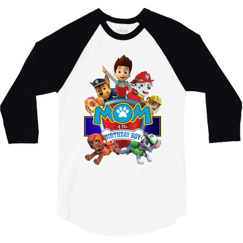 Custom Paw Patrol Birthday Boy Mom 3 4 Sleeve Shirt By Sengul