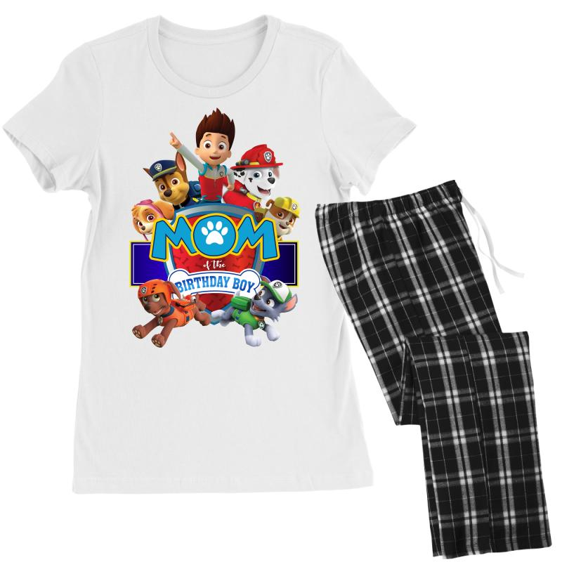 Paw Patrol Birthday Boy Mom Womens Pajamas Set