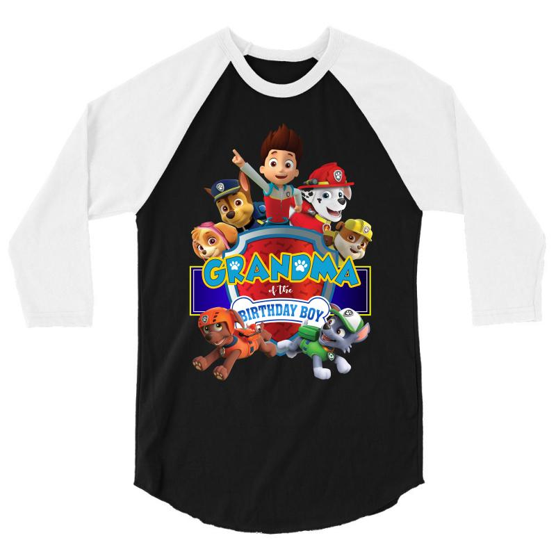 Paw Patrol Birthday Boy Grandma 3 4 Sleeve Shirt