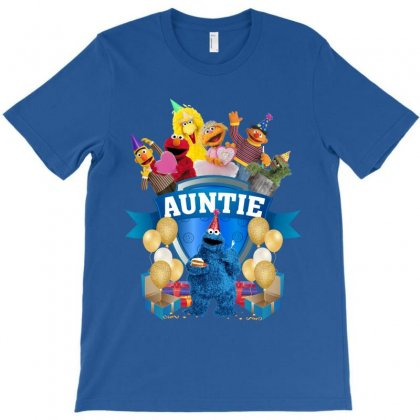 Cookie Monster Birthday Boy Auntie With T-shirt Designed By Sengul