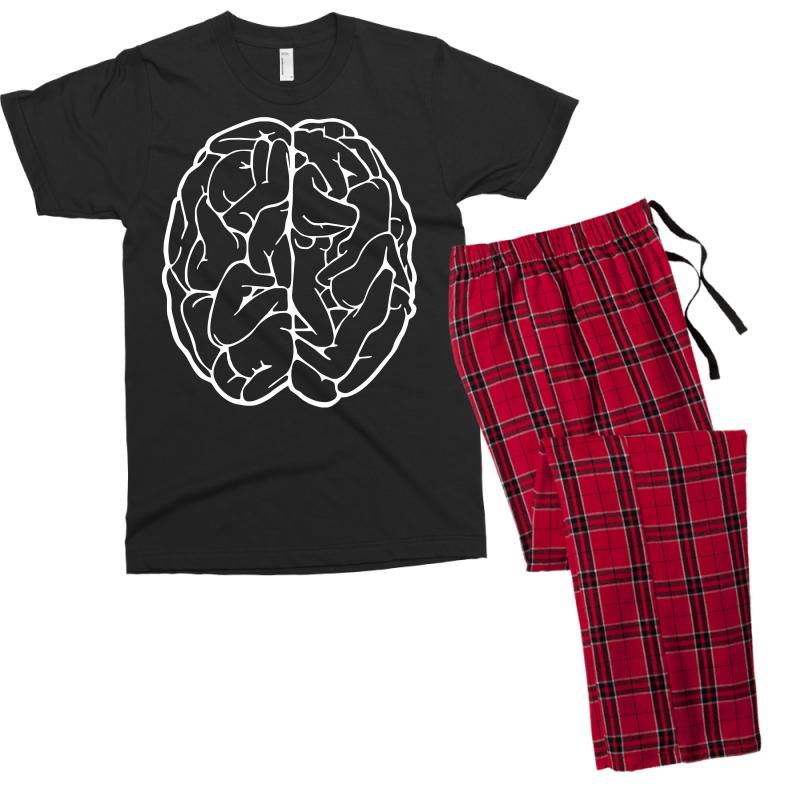 Funny Male Brain Ideal Birthday Gift Or Present Mens T Shirt Pajama Set