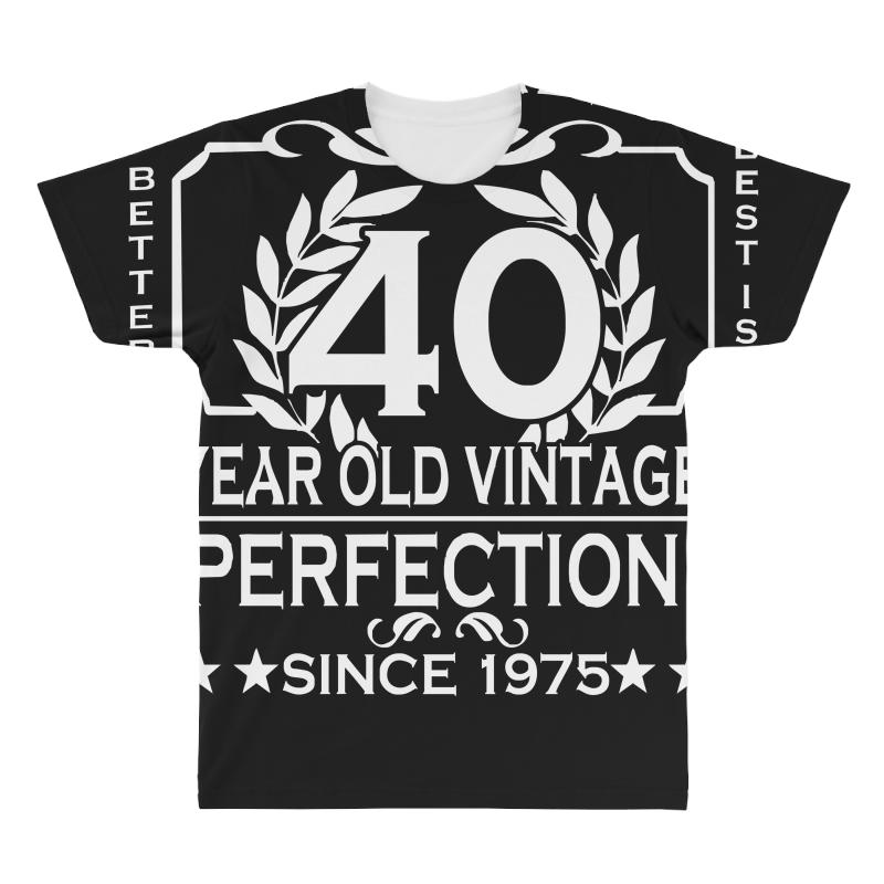 7d50cc917 Custom 40th Birthday T Shirt Personalise With Name Age Year Ideal Birthday  Gi All Over Men's T-shirt By Mdk Art - Artistshot