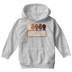 nevertheless she persists Youth Hoodie | Artistshot