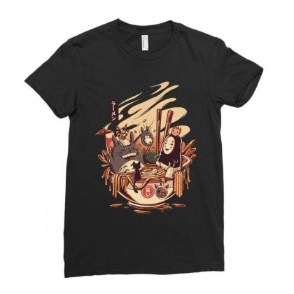 Popular Ramen Ladies Fitted T-shirt Designed By Wizarts