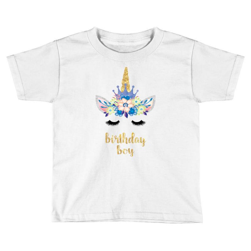 Birthday Unicorn Family Series Boy Toddler T Shirt