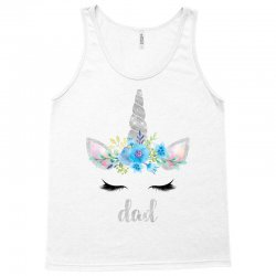 birthday unicorn family series dad Tank Top | Artistshot