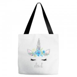 birthday unicorn family series dad Tote Bags | Artistshot