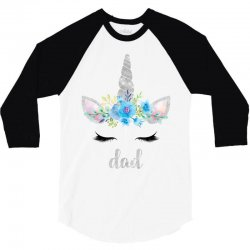 birthday unicorn family series dad 3/4 Sleeve Shirt | Artistshot