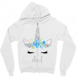 birthday unicorn family series dad Zipper Hoodie | Artistshot