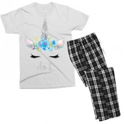 birthday unicorn family series dad Men's T-shirt Pajama Set | Artistshot
