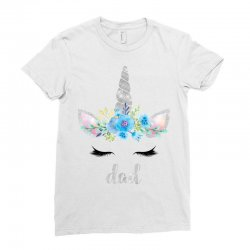 birthday unicorn family series dad Ladies Fitted T-Shirt | Artistshot