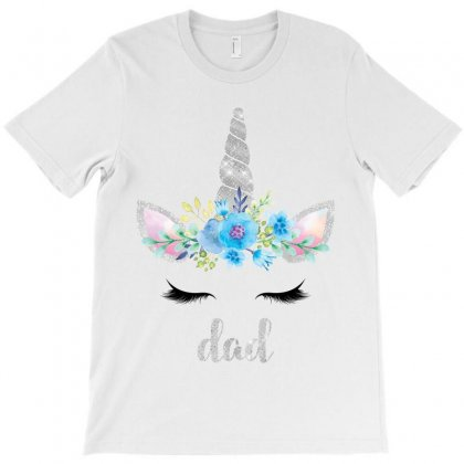 Birthday Unicorn Family Series Dad T-shirt Designed By Akin