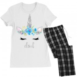 birthday unicorn family series dad Women's Pajamas Set | Artistshot