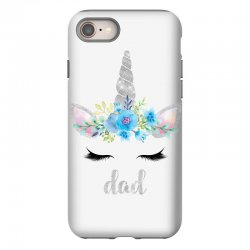 birthday unicorn family series dad iPhone 8 Case | Artistshot