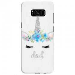 birthday unicorn family series dad Samsung Galaxy S8 Case | Artistshot