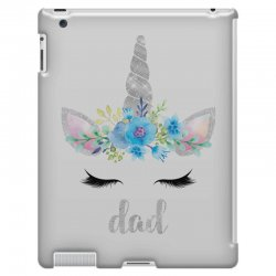 birthday unicorn family series dad iPad 3 and 4 Case | Artistshot