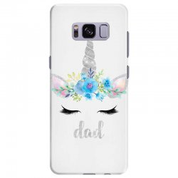 birthday unicorn family series dad Samsung Galaxy S8 Plus Case | Artistshot