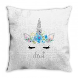 birthday unicorn family series dad Throw Pillow | Artistshot