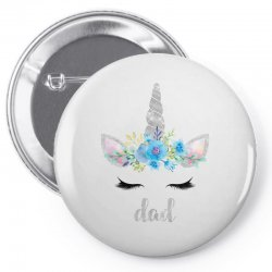 birthday unicorn family series dad Pin-back button | Artistshot