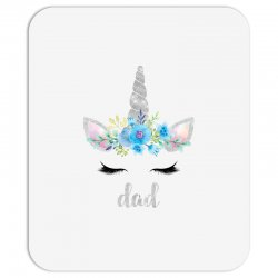 birthday unicorn family series dad Mousepad | Artistshot