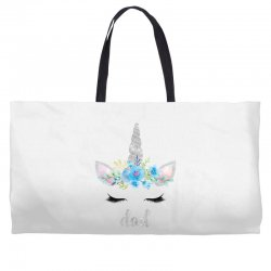 birthday unicorn family series dad Weekender Totes | Artistshot