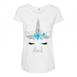 birthday unicorn family series dad Maternity Scoop Neck T-shirt | Artistshot