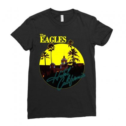 The Eagles Hotel California Ladies Fitted T-shirt