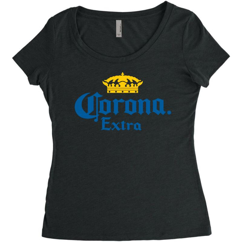 1d564093e77cb7 Custom Corona Extra Women s Triblend Scoop T-shirt By Republic Of Design -  Artistshot