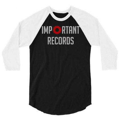 Important Records 3/4 Sleeve Shirt Designed By Mdk Art