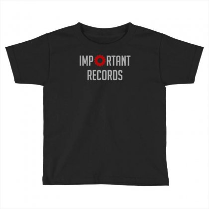 Important Records Toddler T-shirt Designed By Mdk Art