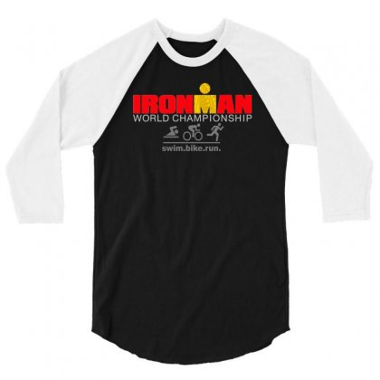 Ironman Triathlon World Championship 3/4 Sleeve Shirt Designed By Mdk Art