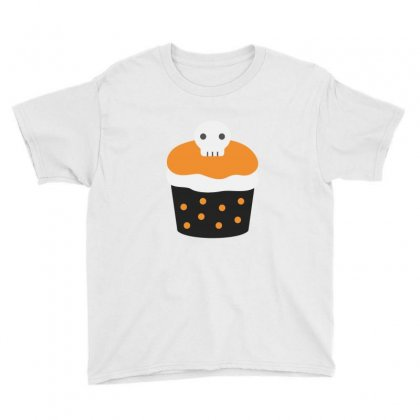 Halloween Cup Cake Funny Tshirt Youth Tee Designed By Mdk Art