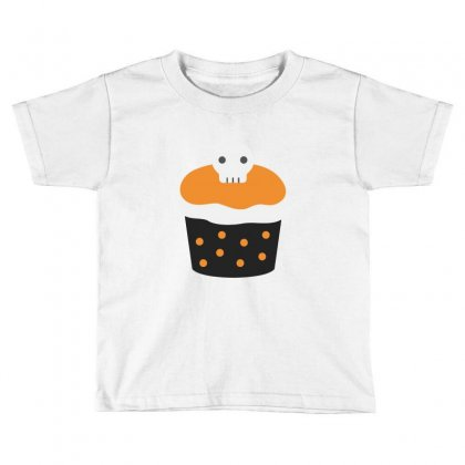Halloween Cup Cake Funny Tshirt Toddler T-shirt Designed By Mdk Art