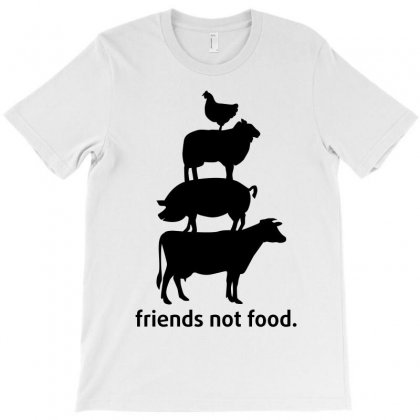 Friends Not Food T-shirt Designed By Wizarts