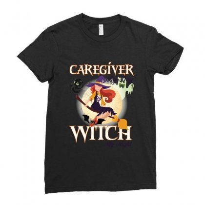 Caregiver Witch Ladies Fitted T-shirt Designed By Wizarts